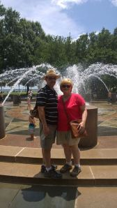 Me and my husband at the Charleston waterfront park.